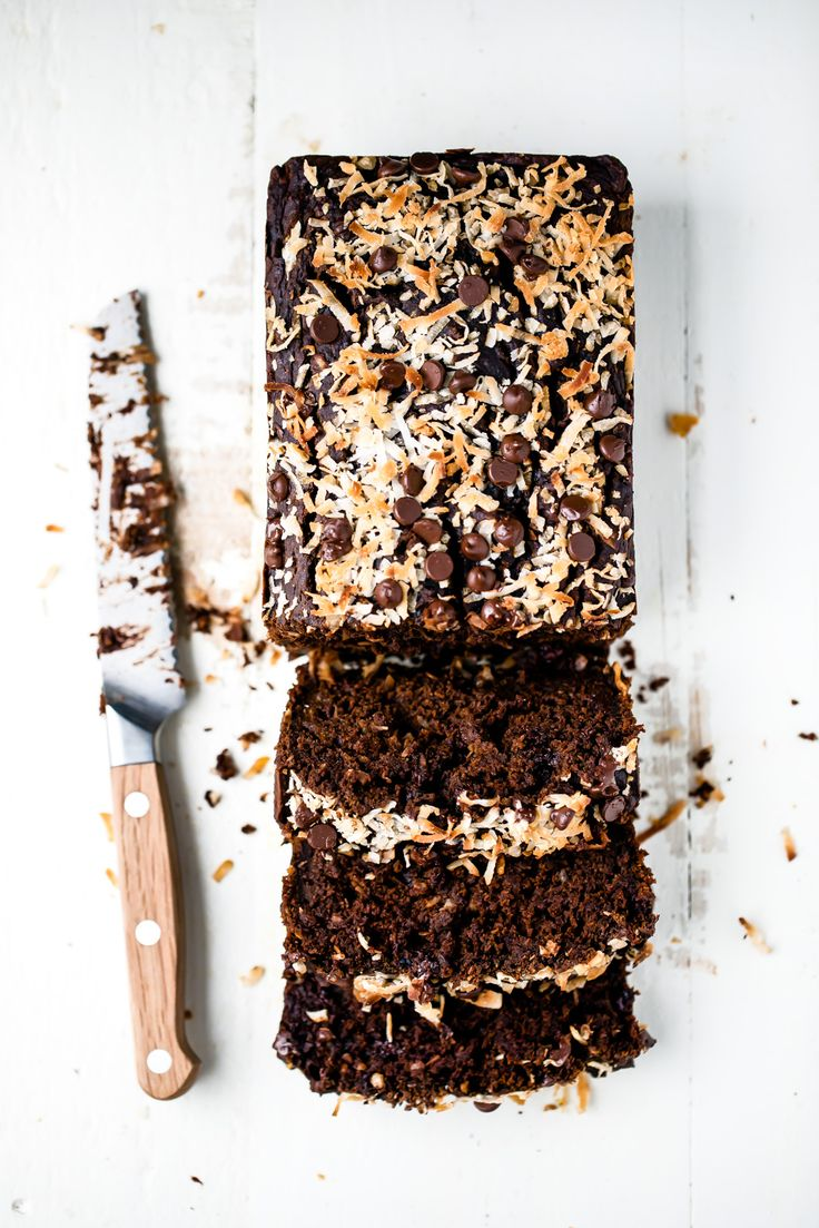 Healthy double chocolate pumpkin bread made with vitamin A packed pumpkin, shredded coconut and whole wheat flour. Tastes like a slice chocolate cake!