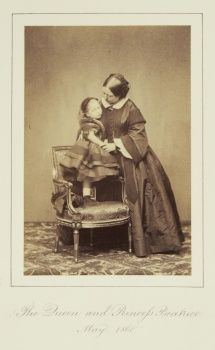 The Queen and Princess Beatrice, May 1860 [in Portraits of Royal Children Vol.5 1860-1861]