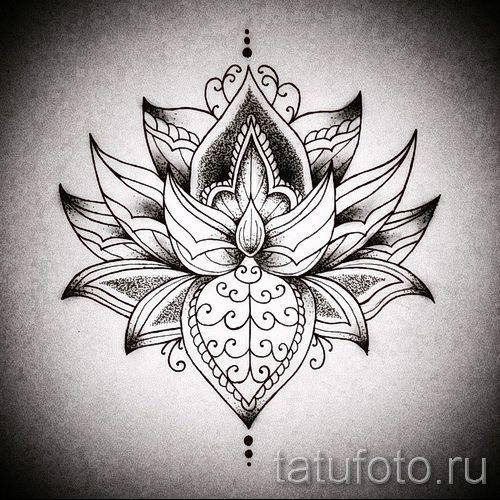 мандала тату эскизы - рисунок для татуировки от 02052016 11