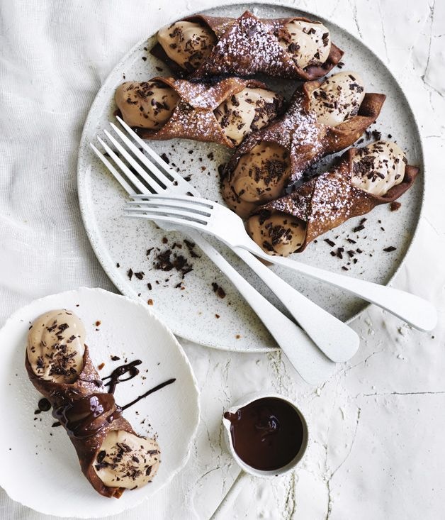 Chocolate cannoli recipe - Pulse flour, sugar, cocoa and cinnamon in a food processor to combine, then add butter and whole beaten egg and process until a soft dough forms.