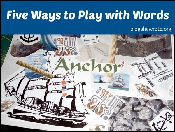 Five Ways to Play with Words - Word play with your kids is a fun way to engage with words in an intentional manner.: Bright Ideas, Ideas Press, Education Ideas, Wrote, Plays, Blog, High School Writing, Word Collage, High Schools