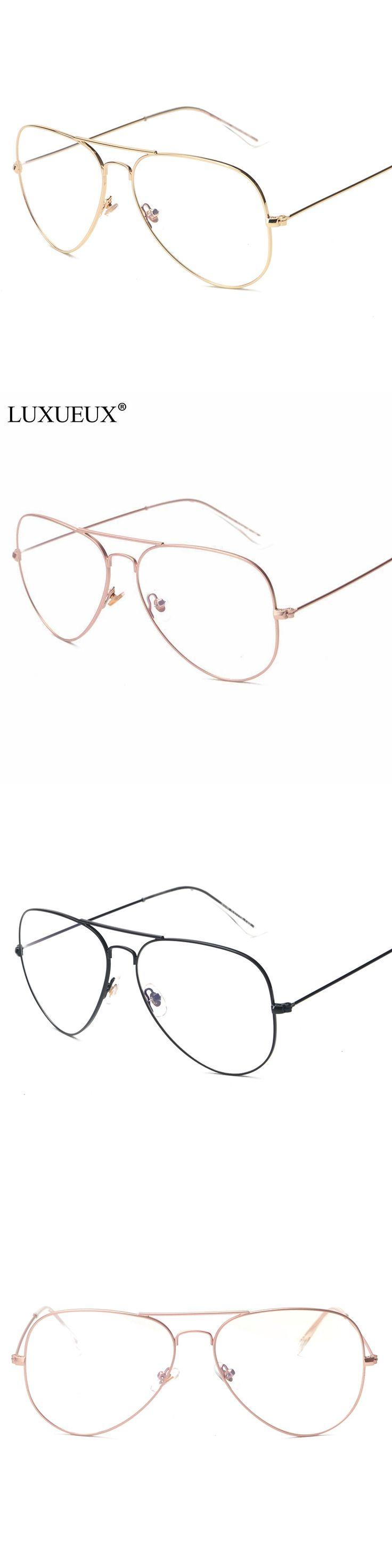 Rose Gold Oval Glasses Frame Women Brand Thin Alloy Frame Men's Optical Frames Eyeglasses Men Fashion Computer Eyewear