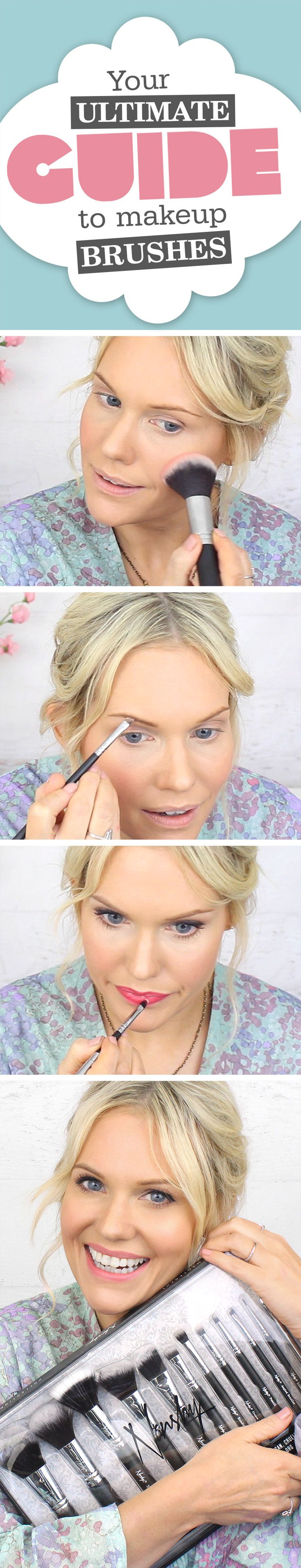 Possibly my BEST tutorial yet!! If you've EVER used a makeup brush you NEED to watch my NEW video! Click this image to learn EXACTLY how to use makeup brushes just like a Makeup Artist so you can achieve professional looking makeup!! ✨✨