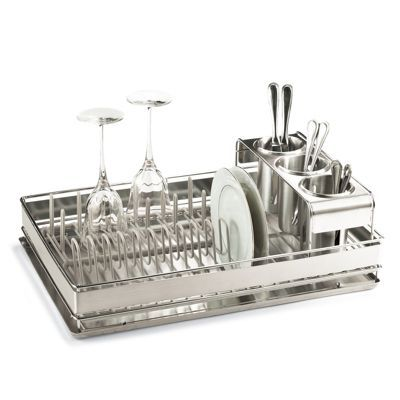 Best of Basics Dish Rack in Stainless Steel with a rack underneath- this is the best I've ever used | Frontgate.com
