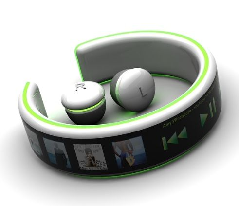 bracelet mp3 player with wireless headphones