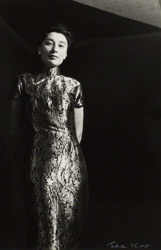 Han Suyin (née Elizabeth Kuanghu Chow, later Comber) by Ida Kar vintage bromide…