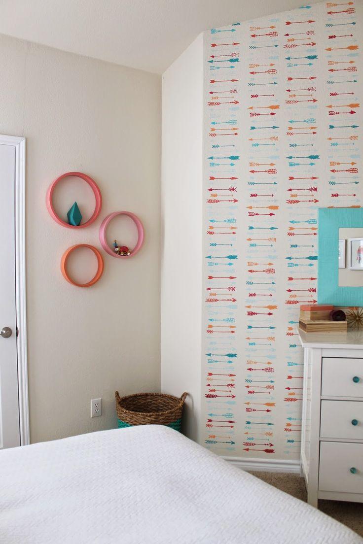 180 best girls room images on pinterest bedroom architecture girls diy modern room makeover circle wall shelves in pink and peach lots amipublicfo Images
