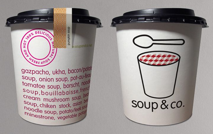 Soup & Co branding and packaging