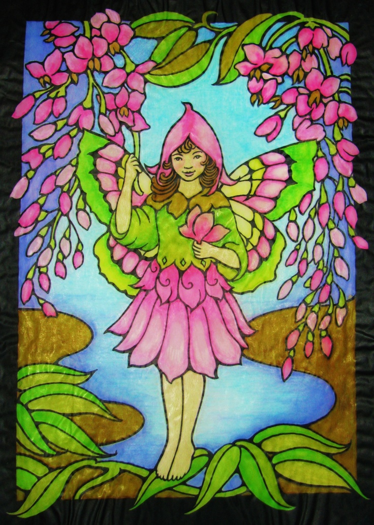 Jules Cote Division From Magic Garden Fairies Stained Glass Coloring Book Store