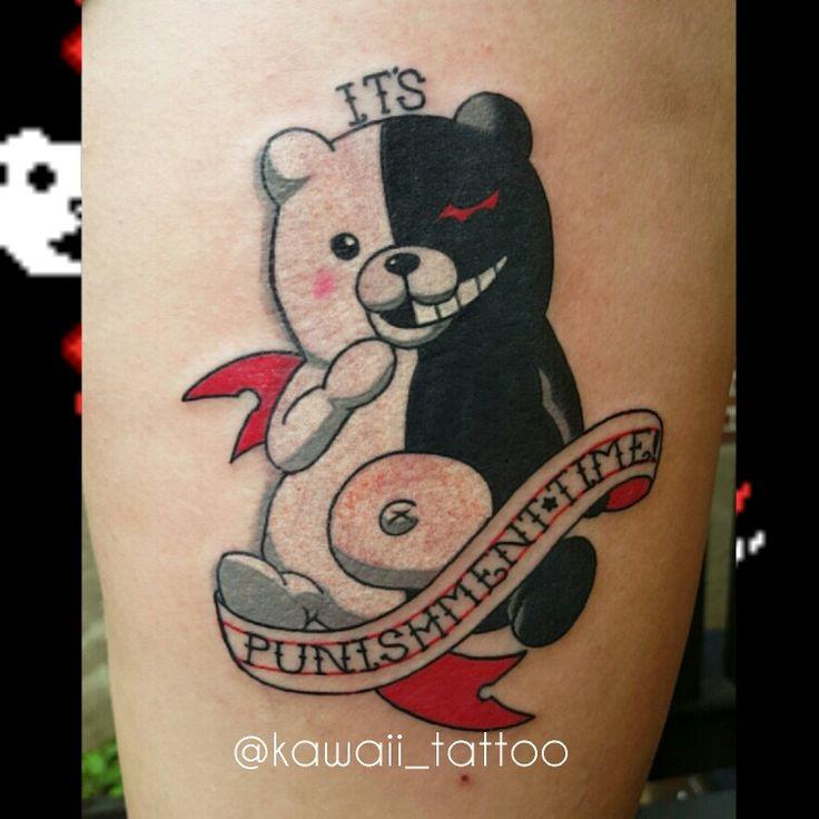 Danganronpa Monokuma tattoo done by me! Email kawaiitattoo ...