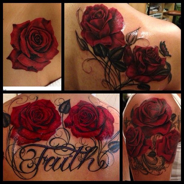 i like the right corner roses.. add one more for 3 and a skull