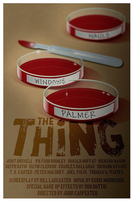 Limited edition Movie poster 'The Thing' 1982 by Kinographics