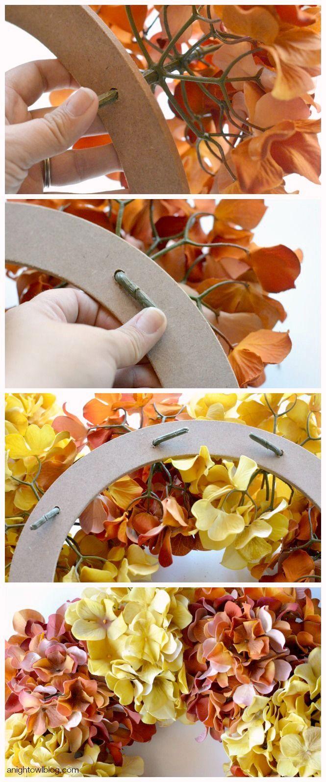 Easy Fall Hydrangea Wreath | anightowlblog.com