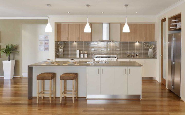 Metricon homes - Kubis kitchen (like the colour scheme but not the way it works together, too similar, need contrast)