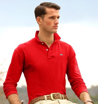 outlet ralph lauren Lacoste Men's Long Sleeve Classic Pique Polo Shirt Red http://www.poloshirtoutlet.us/