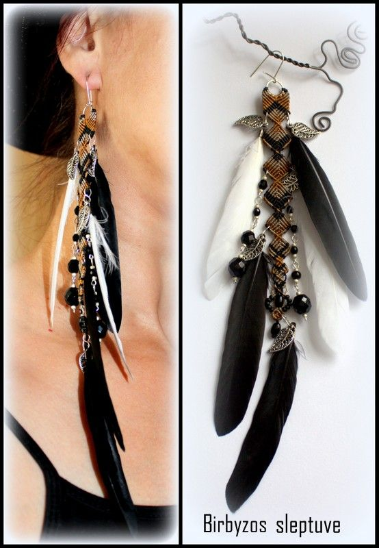 ONE EARRING WITH FEATHERS :)