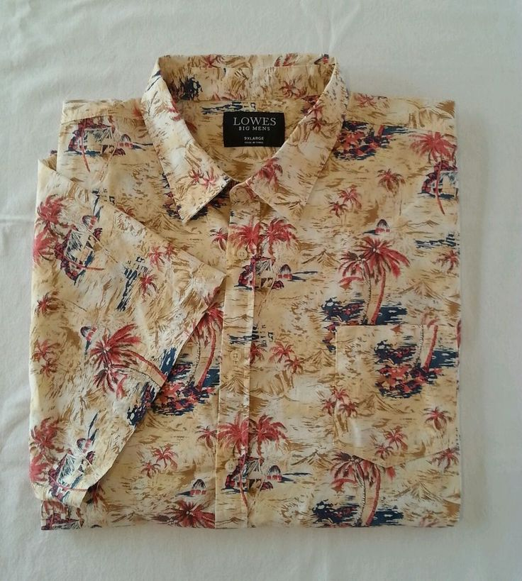 Lowes Big Mens Casual Shirt Plus King Short Sleeve Hawaiian Tropical Beach 9xl in Clothing, Shoes, Accessories, Men's Clothing, Casual Shirts   eBay!