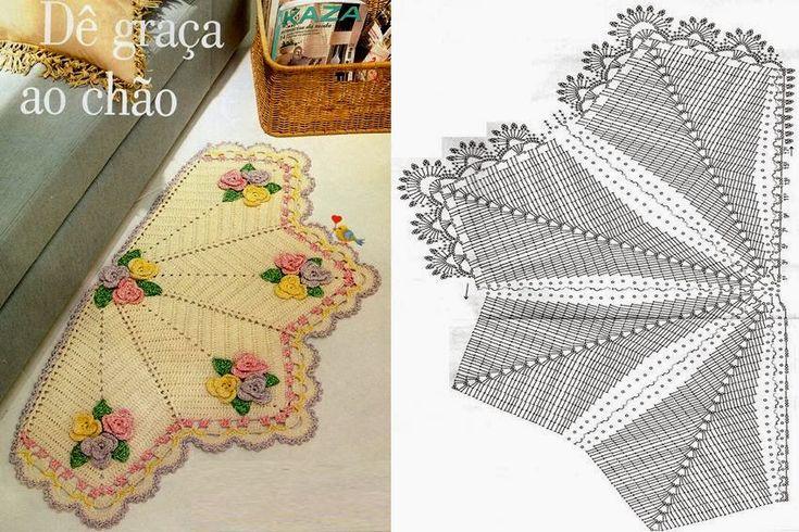 Maria Amélia - Crochê: Tapete Leque com Gráfico