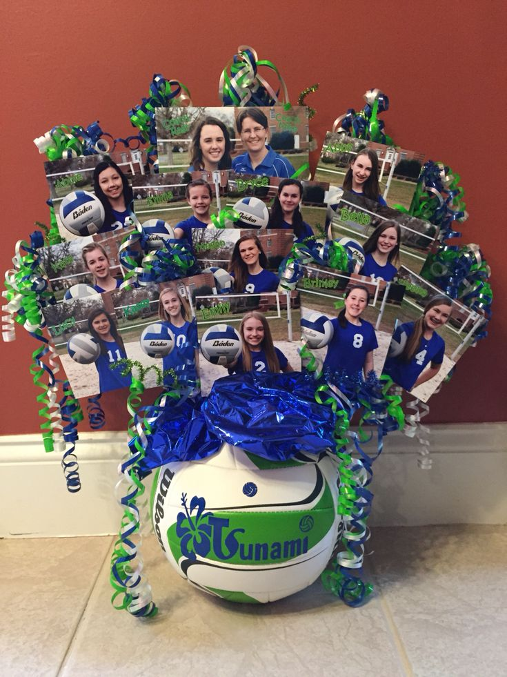Volleyball table centerpiece cute to give to a coach