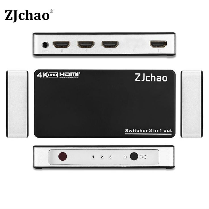 HDMI Splitter 3 Port Hub Box Auto Switch 3 In 1 Out Switcher Ultra HD 4Kx2K 3D 1080p With Remote Control Power Adapter Hot Sale