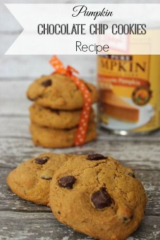 """Who doesn't love chocolate chip cookies?  And since it's Pumpkin Season, we HAVE to combine two of the ultimate """"yummies"""" together.  These Pumpkin Chocolate Chip cookies are so good, you will want to make them all year long!"""