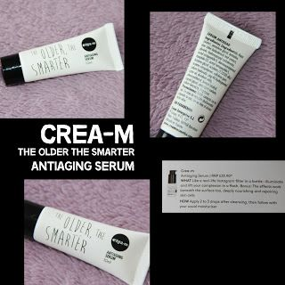 MichelaIsMyName: CREA-M The Older The Smarter Antiaging Serum REVIE...