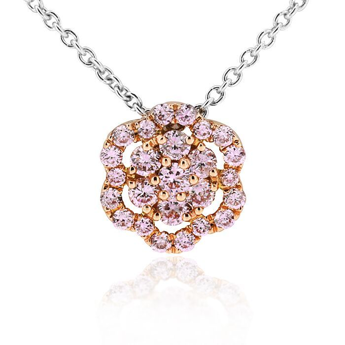 Fantasy Diamonds Collection Pink, yellow and white diamond pendant. In Adelaide Arcade.   #adelaide #diamonds #oneoff #unique #luxury #pendant #pink #yellow #white #gerardmccabe
