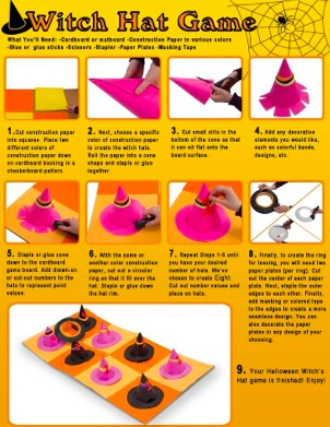 Witch Hat Game - could be adapted for any type of subject area or skill!  http://nationalschoolsupply.com/pdf/WitchHatCraft.pdf