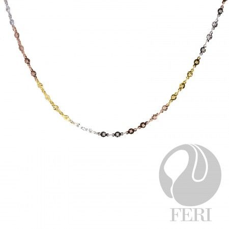 FERI 925 Silver Chain - Tri-Coloured Global Wealth Trade Corporation - FERI Designer Lines  http://www.gwtcorp.com/vdm/display_item.php?referral=cg&category=12&item=5187&cntylng=&page=1