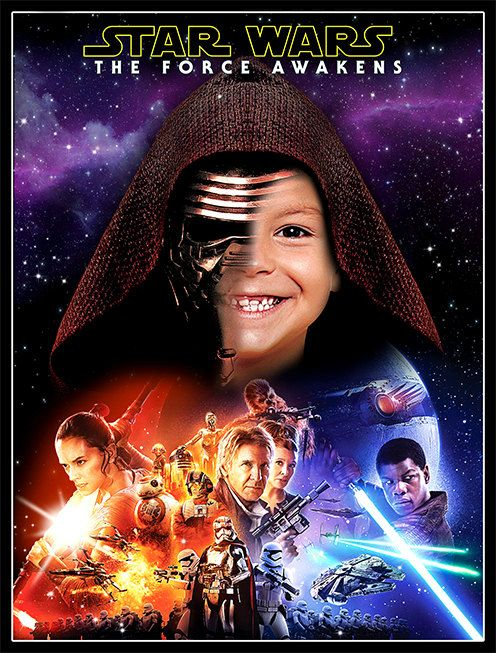 Star Wars The Force Awakens Poster Personalized by BogdanDesign