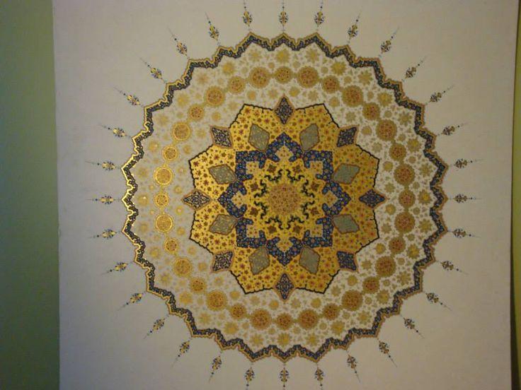 Zahriye levha Belgin Tuna El Bürde 2011 tezhib yarışması 3.lük derecesi