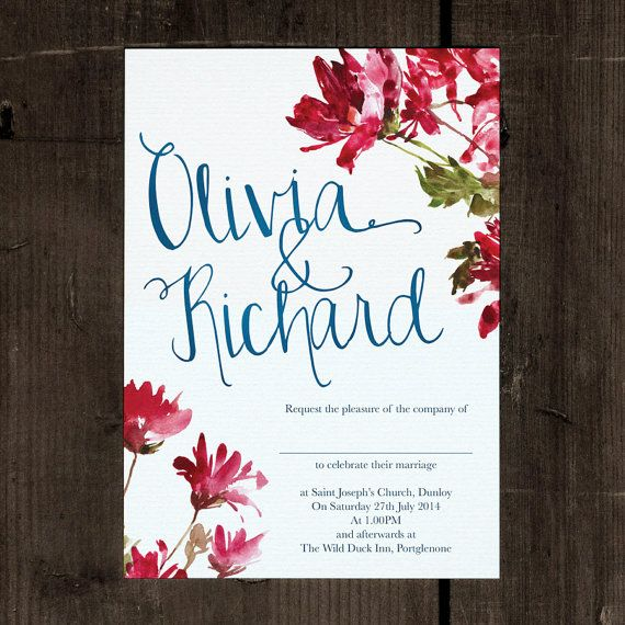 Hand Lettered and Hand Illustrated Wedding by FeelGoodInvites, £1.49