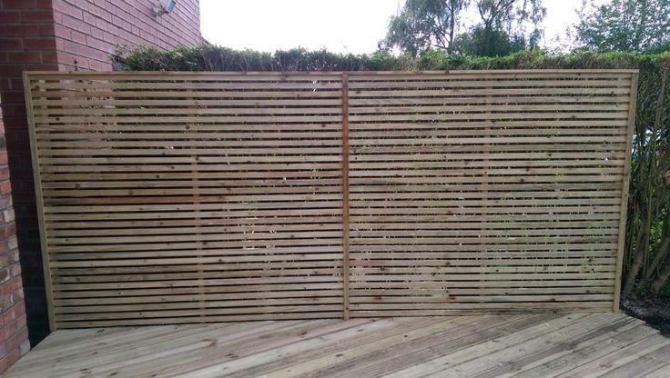 Image Result For Slatted Screen Fence Panels Yard