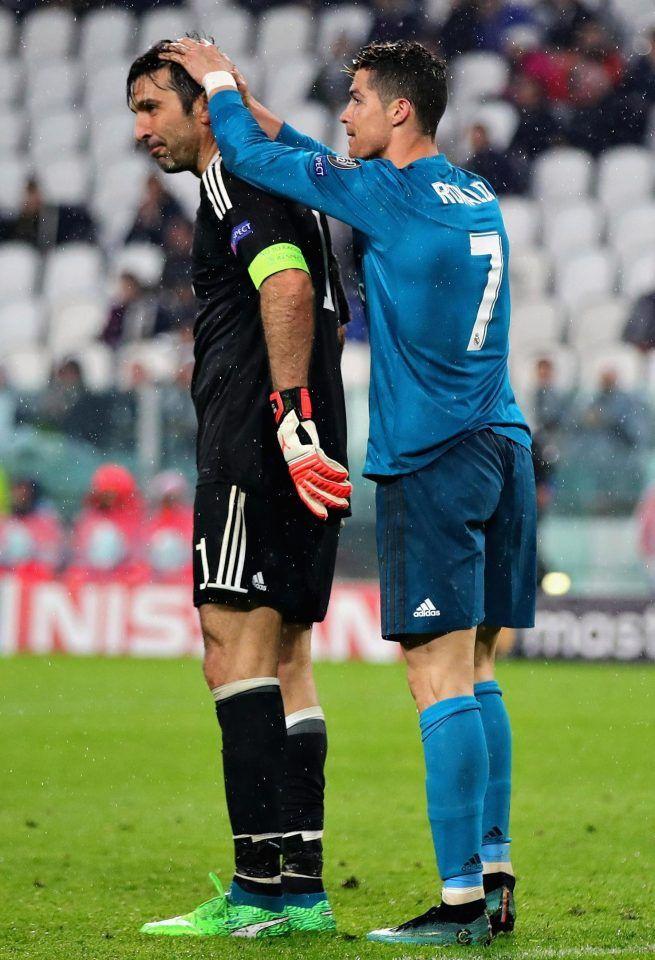 Cristiano Ronaldo pays respect to Gianluigi Buffon after incredible  performance  realmadrid  juventus 737b65990ee6