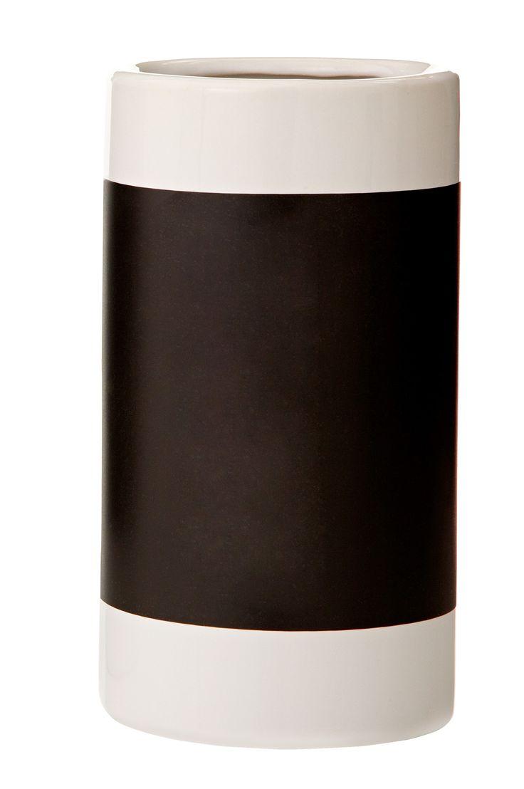 Cherry Hill Lane Ceramic Chalkboard Vase
