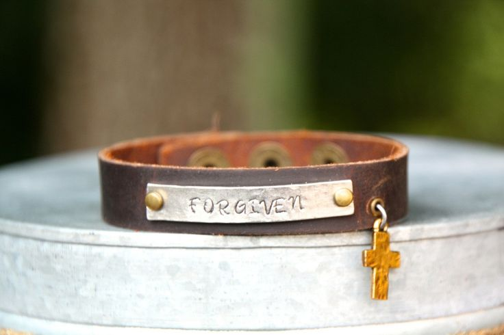 Skinny Leather Cuff With Cross | Forgiven