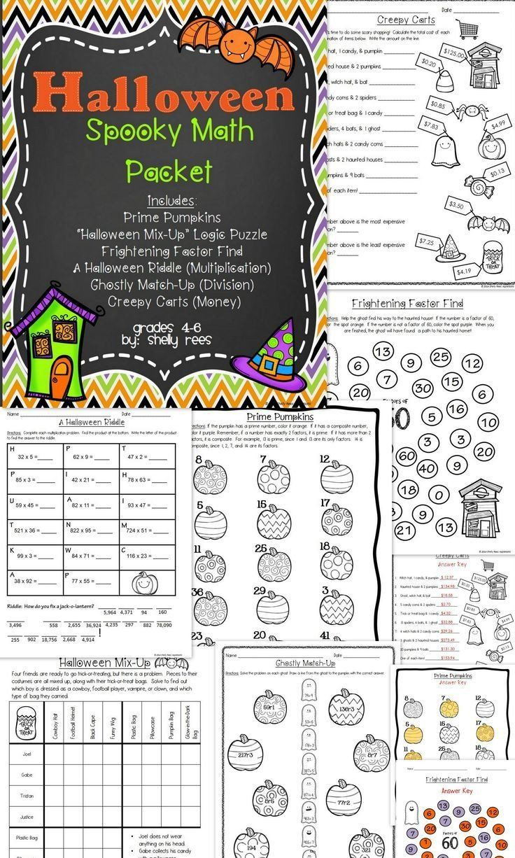 small resolution of 5th Grade Halloween Worksheets Halloween Math Worksheets   Halloween math  worksheets