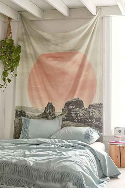 Magical Thinking Geometric Landscape Tapestry - Urban Outfitters
