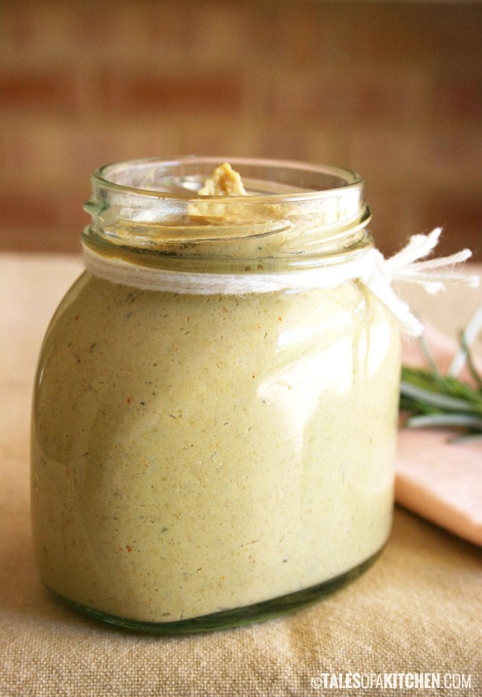 Home made mustard with fresh thyme and rosemary. Cheaper than store bought, with no additives or preservatives, raw & vegan, with unprocessed ingredients.   And it tastes brilliant!