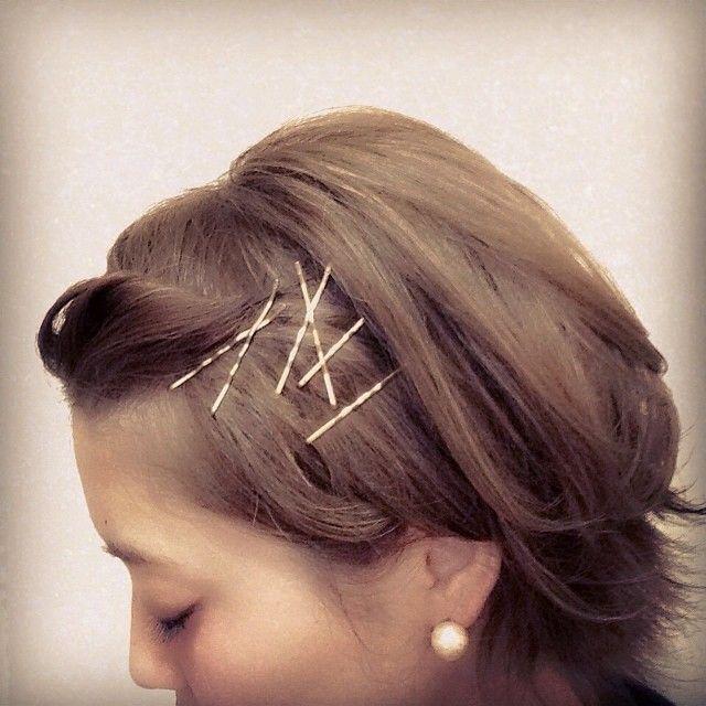ヘアピンを使ったアレンジ術♡長さはそのままで髪型の雰囲気を変えたい☆ショートヘアのアレンジ 参考一覧まとめです!