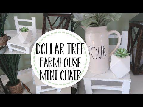 Dollar Tree Farmhouse DIY | DIY Mini Decor Chair| Dollar Tree Farmhouse Home Decor – YouTube