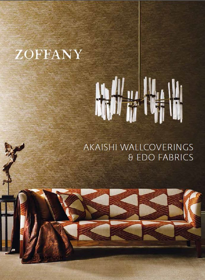 SS 2016 - Edo Fabrics & Akaishi Wallcoverings. Inspired by Japanese design ethos and culture these collection are breathtaking interpretation of the natural world around us. An ethereal aesthetic emanates from the artwork which was created by spontaneous and painterly brush strokes.