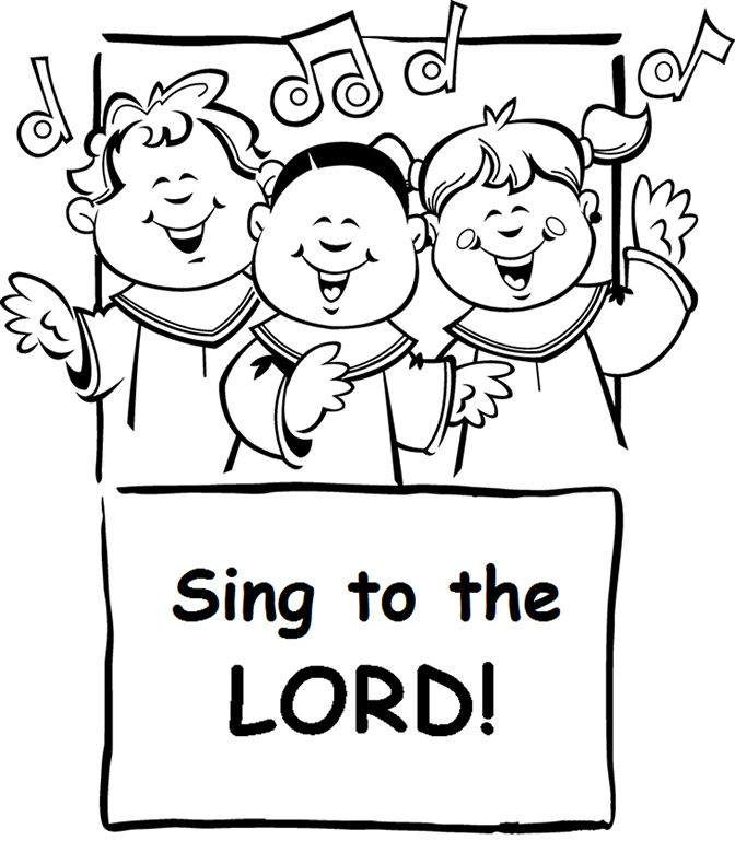 coloring pages of singing - photo#32