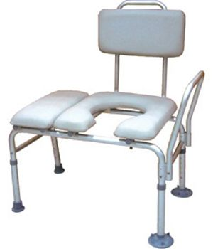 K.D. Combination Padded Transfer Bench and Commode $128.00 FREE Shipping from uCan Health || This K.D. Combination Padded Transfer Bench and Commode combines a transfer bench and commode into one product., Bath Safety, Transfer Benches