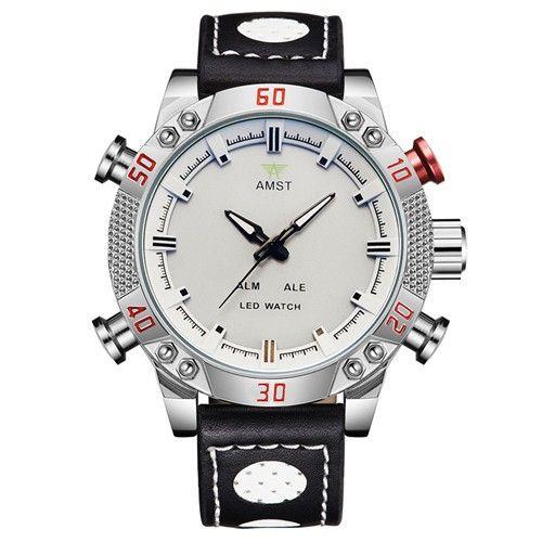 AMST esporte Exército relógios moda multifunções dupla afixação eletrônico à prova d' água luz ao ar livre eletrônico levou relógio do esporte em Relógios dupla de Exibição de Relógios no AliExpress.com | Alibaba Group