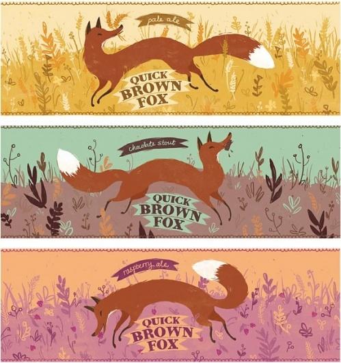 : Playful Concept, Fox Ale, Fox Beer, Breelundberg, Beer Labels, Foxes, Bree Lundberg, Quick Brown