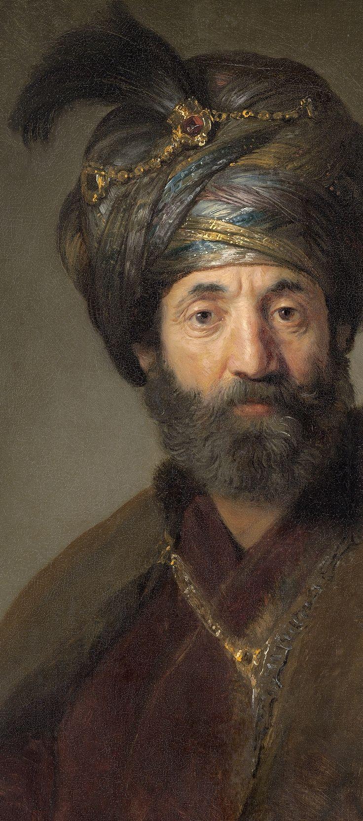 Rembrandt van Rijn and Workshop (probably Govaert Flinck) - Man in Oriental Costume