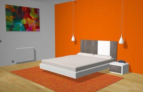 Cabecero Milano corto gris y blanco para dormitorios más pequeños  CABEZALES -> Armario De Banheiro Lofty