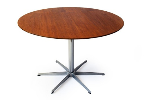 ARNE JACOBSEN FRITZ HANSEN TEAK DINING TABLE