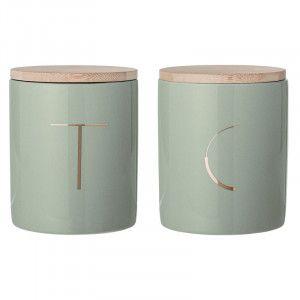 Aufbewahrungsdosen für Kaffee und Tee in mintgrün, 2er-Set #coffee #tea #aufbewahrung #Dosen #mint